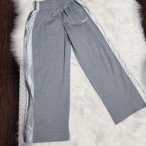 Nike Boy Kids Gray Pants White Straps Sporty Pants Comfy Size 6